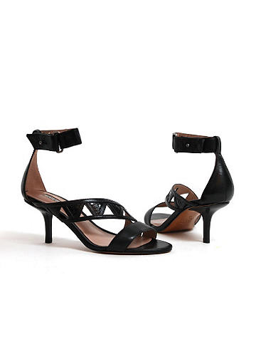 "Cutout Sandal by Charles David - Charles by Charles David. 2"" heel. Imported. Suggested retail: $215"