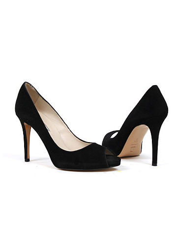 "Jocelyn Peep Toe Pump by Charles David - The classic leather pump redefined. Just right for office hours or special occasions, it features a 3.5"" heel and a 1"" platform. Imported. From Charles David. Suggested retail: $250"