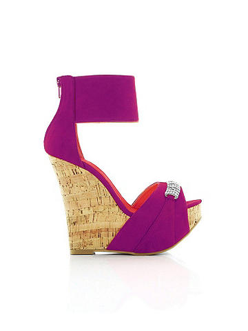 BELLA EMBELLISHED CORK WEDGE - Comfort and style are yours! Simply slip into this stunning wedge sandal to experience the ultimate spring essential. 