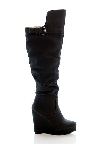 Fernanda Wedge Boot - Go for incredible versatility without sacrificing your sexy style in this on-trend slouchy silhouette. With platform and wedge heel. Imported.