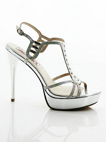 Fifi Strappy Rhinestone Sandal - A soirée-ready footnote that's always ready to step into the limelight. Sexy strappy details are embellished with an artful mix of rhinestones and crystals. Features include: