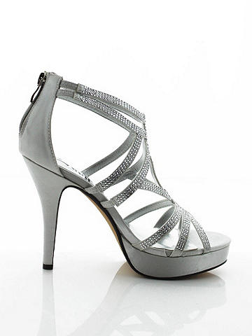 Cécile Strappy Rhinestone Sandal - Strappy style that shines—at the club, on the dance floor and anywhere the night takes you. The intricate design features: 