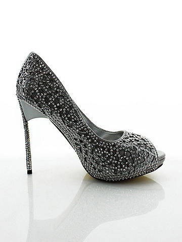 Nicolette Rhinestone Pump - Classic, elegant and dressed up with shine. The ideal shoe for walking down the aisle or perfect for hot nights out. Stunning features include: