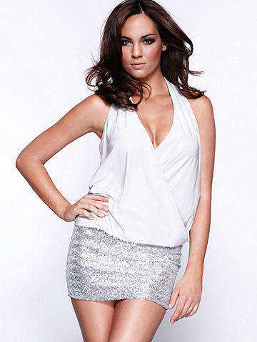 Sequin Banded Bottom Dress