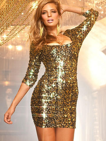 Short Sequin Dress