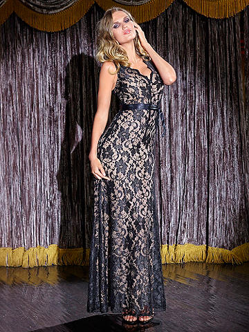 Luxe Lace Overlay Gown - The luxury of lace goes to great lengths this season with this all-eyes-on-you, statement-making gown. All you need is a smoky eye, a nude lip and a touch of sparkle to shine. Gorgeous features include: