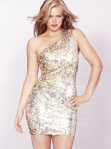 One-Shoulder Mini Dress Plus - Sparkling sequins meet a Grecian-inspired silhouette to create the ultimate cocktail dress. In an eye-catching, one shoulder cut, this dress is sure to stun as you move through the crowd. Imported.