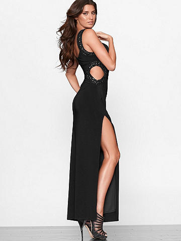 JEWELED CUTOUT GOWN
