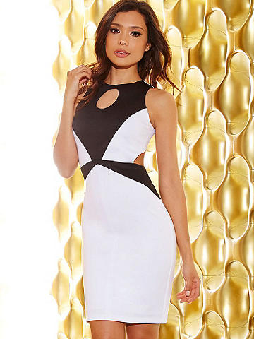 Front Keyhole Backless Dress - Celebrate summer occasions in a Little White Dress. Cutting-edge with a modern flair. This stunning little number features: 