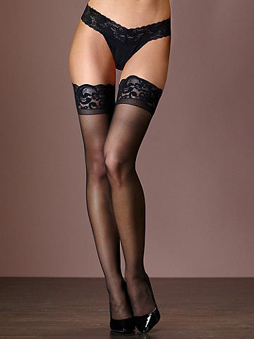 Scallop Lace-Top Thigh High