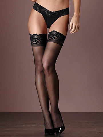 Scallop Lace Thigh High PLUS