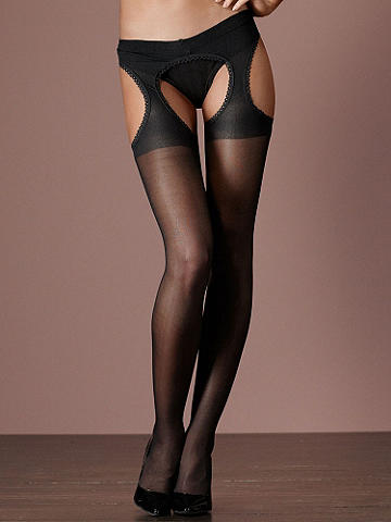Sheer-Suspender Pantyhose PLUS