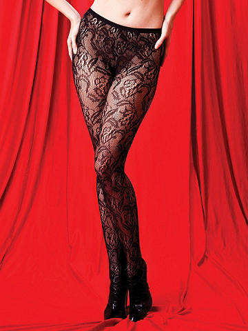 Floral Lace Pantyhose - Let your style bloom! Add a dose of the luxe life to your favorite skirt, dress or romper by adding gorgeous floral lace. Sheer style features all-over floral pattern. Nylon. Imported.