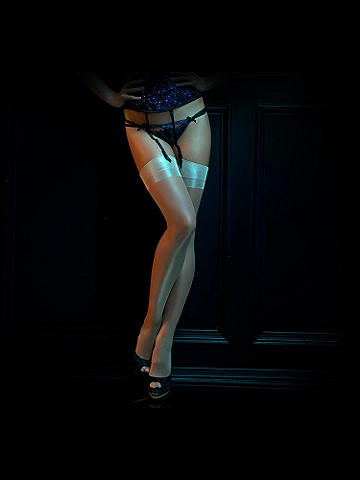 French Silk Stocking - Hand crafted in France, this sensual stocking offers the timeless elegance of silk with the flawless finish of luxury. For an unforgettable night out or a romantic night in, this is pure indulgence. 100% silk. Imported.