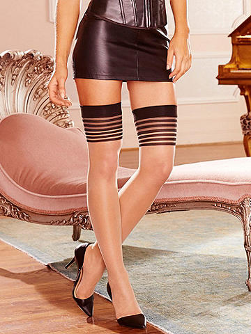 Double Backseam Thigh High - Elegant and seductive, our double back seam style puts attention right where you want it. Features include: