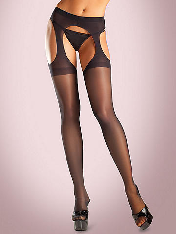 NEW Sheer Suspender Pantyhose - A garter belt and stocking all in one! Smooth under even the tightest dresses. 