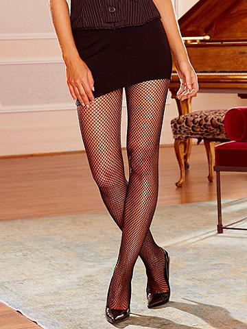 Fishnet Backseam Pantyhose - A must for every wardrobe, this sexy essential is amazing with one of our legendary Hollywood bras. Features include: