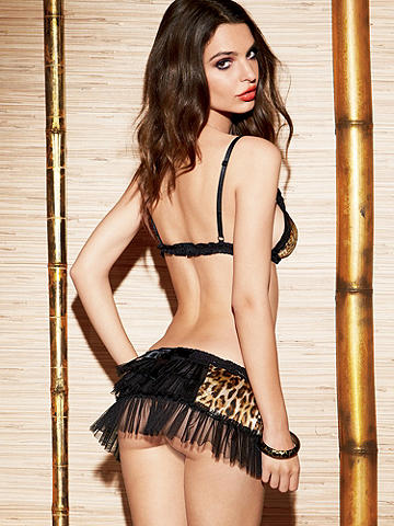 Hollywood Satin & Mesh Two-Piece Set