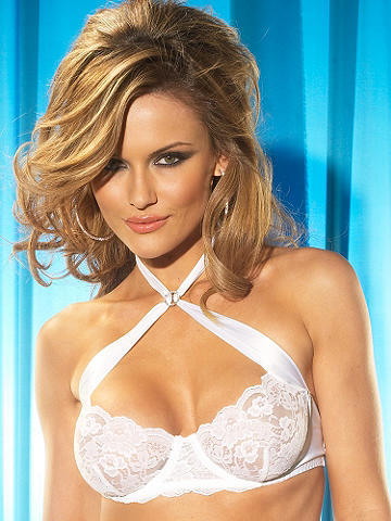 Satin & Lace Crossover Bra