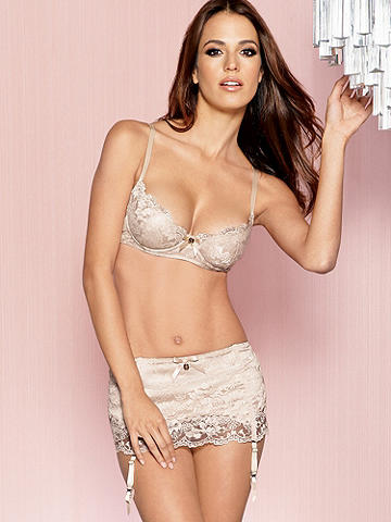 Lace Over Satin Bra