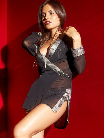 Chinoise Surplus Mesh Robe