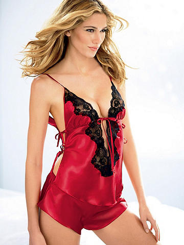 Three-Piece Satin Pajama Set