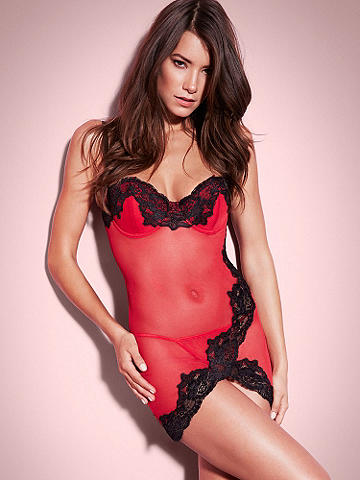 Beauty Lace Chemise - Drawing inspiration from Hollywood glamour, our new chemise defines beauty. Adding to its unstoppable romance, it features: