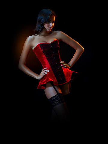 Limited Edition Silk Flounce Corset