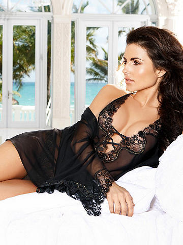 Black Label Chemise - Exquisitely crafted and designed for the most decadent, sexy lounging—this chemise is utterly desirable and the perfect way to indulge yourself. 
