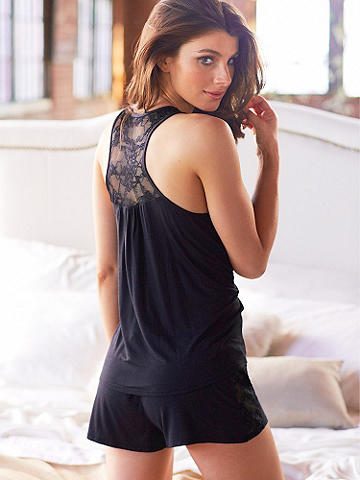 Beauty Sleep Knit Short - Introducing our new knit short—just right for a night (or day!) of kicking back. Featuring a chic silhouette and lace trim, these might even venture out of the house! Imported.