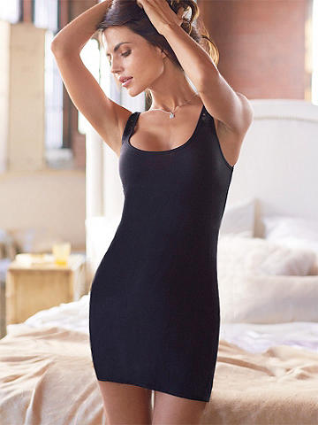 Beauty Sleep Bandeau Chemise - Slumber in cute, comfortable style! Introducing our new knit chemise--designed to hug your curves, it's the most flirtatious way to relax.  <ul>    <li>Sheer lace bandeau at back</li>    <li>Scoop neckline </li>    <li>Low cut silhouette</li>    <li>Polyester/rayon/spandex</li> </ul> Imported.