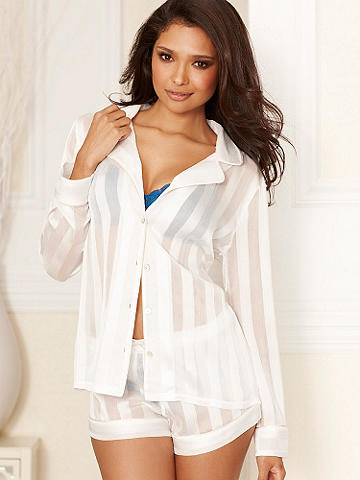 Shadow Striped Pj Set