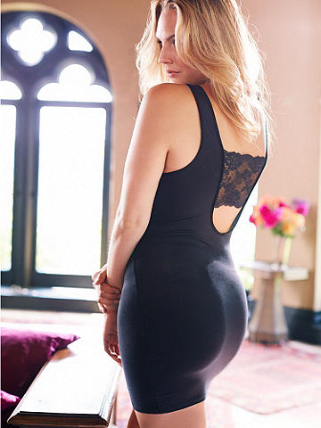 Beauty Sleep Bandeau Chemise Plus - Slumber in cute, comfortable style! Introducing our new knit chemise--designed to hug your curves, it's the most flirtatious way to relax.