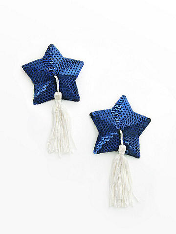 Sequin Star Tassel Pasties - null