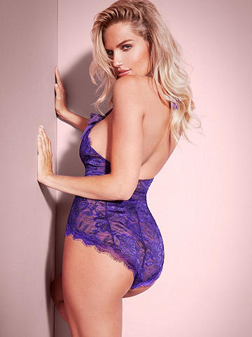 Lace Button Teddy - A curve-accentuating teddy that highlights your body in the most beautiful lace. Features include: 