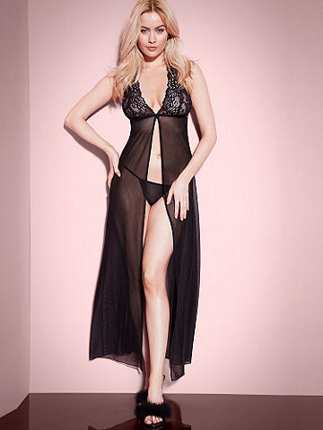 Viviette Lace & Mesh Gown - Stunning and statement-making, this new gown flaunts your glamorous side. Gorgeous features include: 