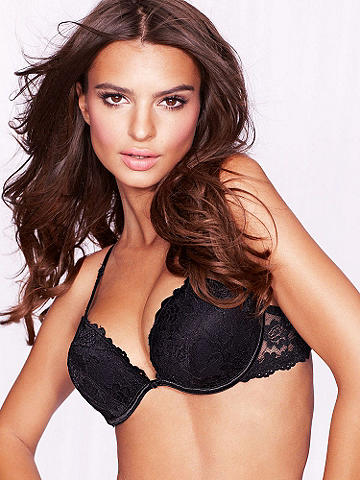 Hollywood Flirt Push-Up Bra - Flirt with your most incredible cleavage ever! Get alluring push-up plus tempting deep plunge in sizes to 38DD, all in our stunning bra. Features include: