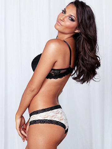 Lauren Boy Short - We took our best-selling lace thong and created an even better boy short, just for you! In smooth, sexy lace with contrasting trim, it features lace-up details at the hips. Accented with delicate bows. Polyamide/spandex/cotton. Imported.