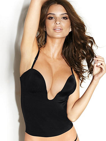 Sleek & Seamless Plunge Bustier - In search of perfectly smooth, body-forming shapewear that creates a devastating hourglass shape and allows you to wear those low-cut tops you love so much? Have we got something for you. Sleek and seamless, with deep plunge U-wire and back hook-n-eyes. Nylon/spandex. Imported.