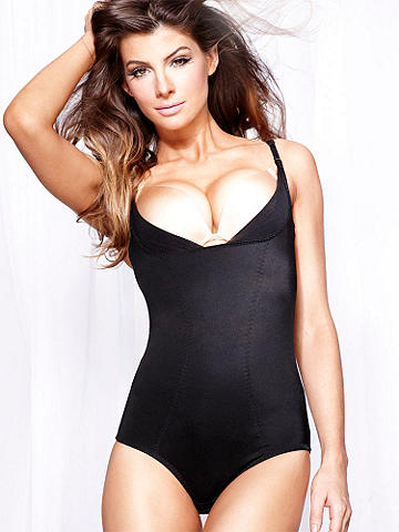 One-Piece Bodybriefer - The ultimate in firm control and shaping. This one piece features convertible straps that allow you to wear it wth your own bra for the shape you desire. Reinforced panel for tummy control. Adjustable straps and hook-n-eye closure at crotch. Nylon/spandex. Imported.