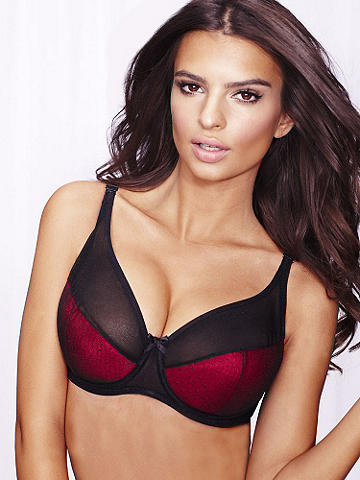 Sheer Top Full-Figure Bra