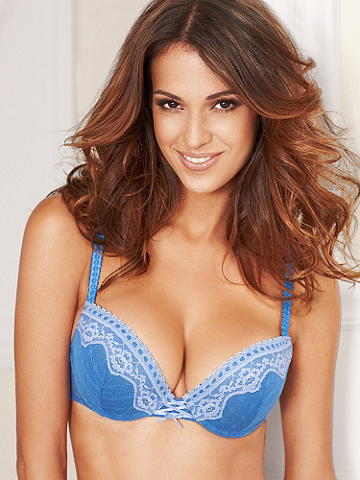 Ribbons & Lace Bra - Meet the stunning new push-up that will have you head over heels! Featuring an ultra-comfortable microfiber design with a gorgeous lace overlay, the rest of its features include: 