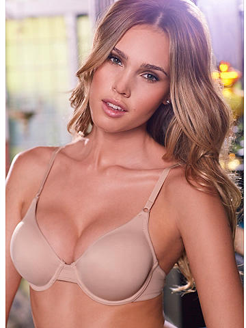 Unlined Essential Bra - Smooth microfiber and a gentle boost of underwire make this the perfect everyday bra under T-shirts and close-fitting tops. The soft, unlined cups are ideal when you don't want any extra padding, just a natural silhouette. Features include: