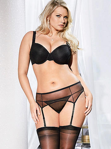 Sheerly Sexy Garter Belt PLUS - A sheer mesh garter belt adds instant sex appeal to everything you wear. Essential features include: