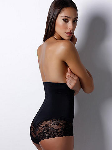 Firm Control Highwaisted Brief - Retro styling meets functional fashion. This highwaisted lace brief gives you the ultimate tummy support. Must-have features include: