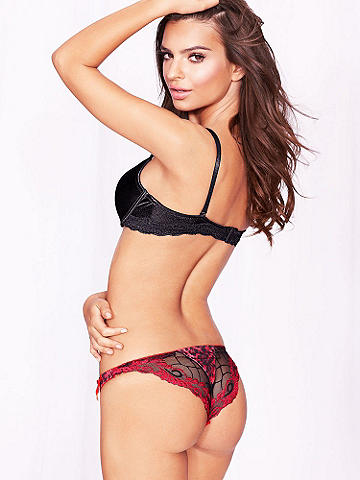 Embroidered Leopard Thong