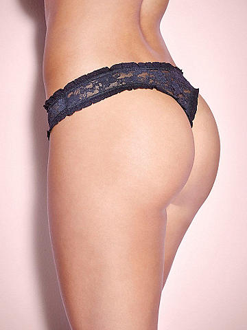 Satin Trim Thong