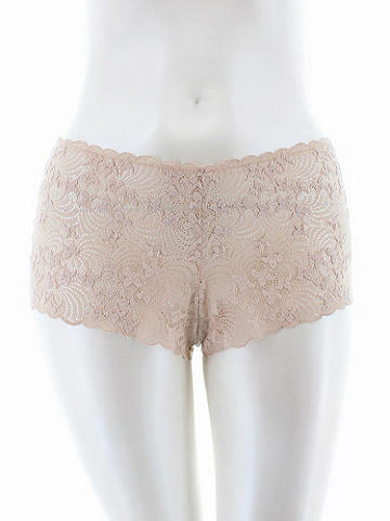 Flirty Fan Print Boy Short PLUS - In our flirtiest boy short cut, luxurious laces make every day a sexy special occasion. The no-show design disappears under clothes and offers all-day coverage. Nylon/spandex. Imported.