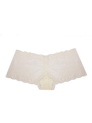 Glamour Lace Boy Short PLUS - Because sexy isn't limited to just your lingerie drawer! Slip into a new panty that combines a flirty boy short shape with luxurious stretch lace in a glamorous design. The no-show silhouette clings to your curves for all-day coverage. Nylon/spandex. Imported.