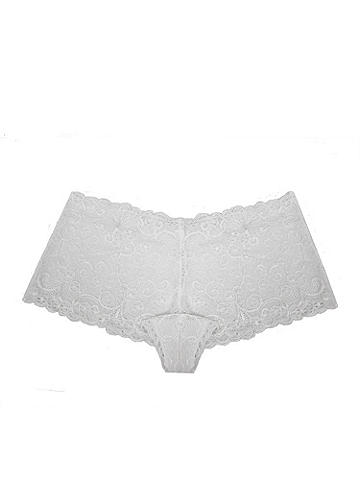 Floral Scroll Lace Boy Short PLUS - Because sexy isn't limited to just your lingerie drawer! Slip into a new panty that combines a flirty boy short shape with luxurious stretch lace in the most stunning design. The no-show silhouette clings to your curves for all-day coverage. Nylon/spandex. Imported.